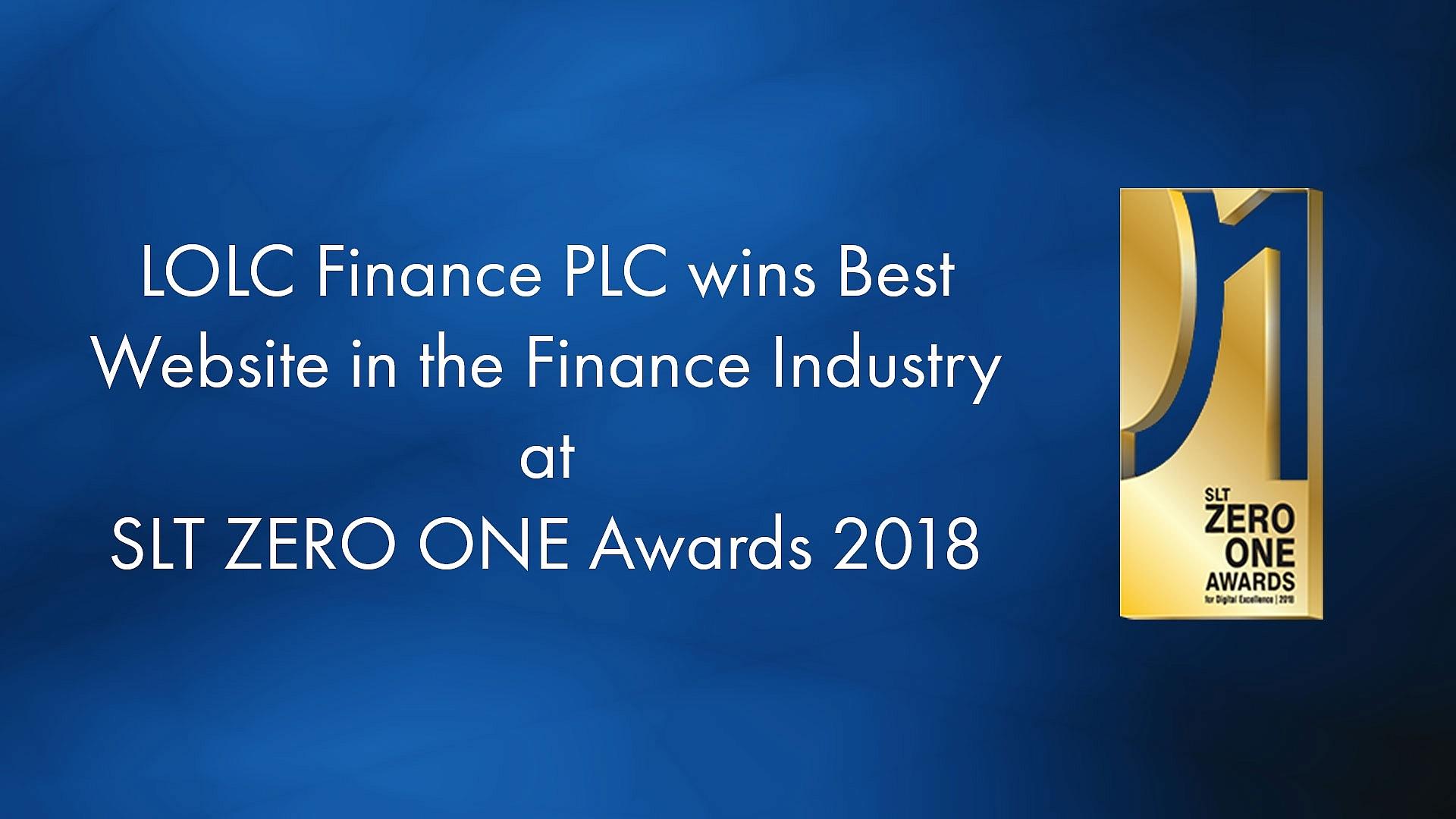 LOLC Finance PLC wins 'Best Website in Finance Industry' at SLT ZERO